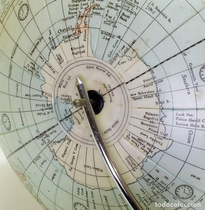 Antigüedades: 1950ca Globo terráqueo hinchable antiguo inflatable terrestrial globe - Foto 3 - 87403392