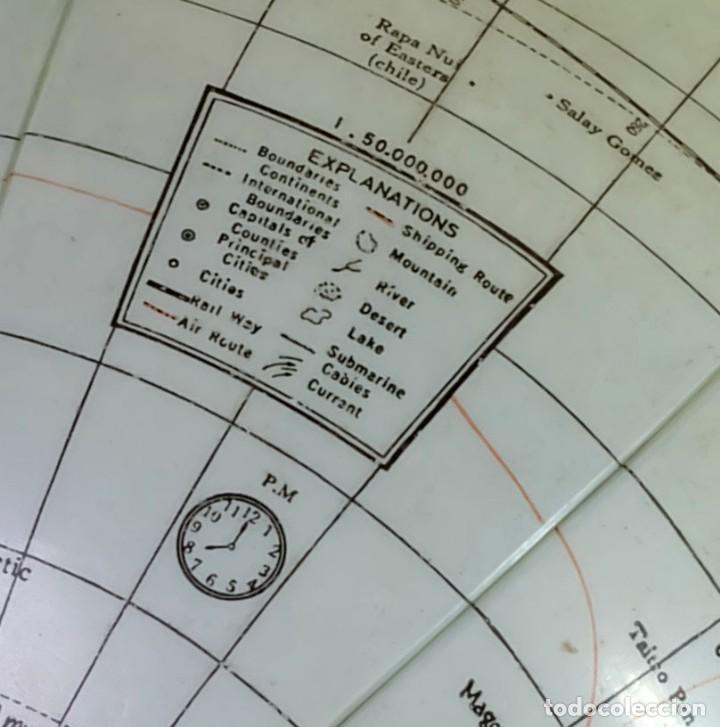 Antigüedades: 1950ca Globo terráqueo hinchable antiguo inflatable terrestrial globe - Foto 4 - 87403392