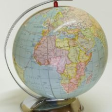 Antigüedades: 1957 GLOBO TERRÁQUEO HINCHABLE DE STANDARD COLLEGE NEW YORK INFLATABLE TERRESTRIAL GLOBE. Lote 87404472