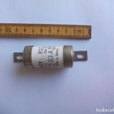 Antigüedades: FUSIBLE CRADY 63 A. HSC 2. REF. A-3, 500 V AC 250V DC. MADE IN SPAIN.CARTUCHO CERÁMICO. Lote 87485484