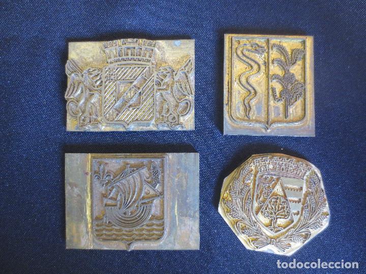 PLACAS O PLANCHAS DE IMPRENTA CON MOTIVOS HERALDICOS (Antigüedades - Técnicas - Herramientas Profesionales - Imprenta)