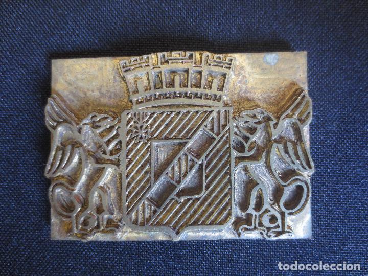 Antigüedades: PLACAS O PLANCHAS DE IMPRENTA CON MOTIVOS HERALDICOS - Foto 3 - 87499004