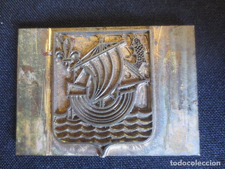 Antigüedades: PLACAS O PLANCHAS DE IMPRENTA CON MOTIVOS HERALDICOS - Foto 4 - 87499004