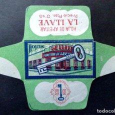 Antigüedades: HOJA DE AFEITAR ANTIGUA-FERRETERIA-LA LLAVE PTAS.0'45-MADRID-VINTAGE. Lote 87533704