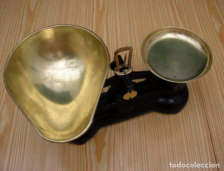 Antigüedades: Balanza inglesa Librasco de hierro fundido. - Foto 3 - 87549908