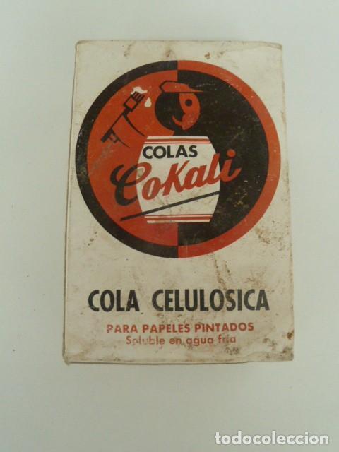 Antigüedades: PAQUETE DE COLA CELULOSICA PARA PAPELES PINTADOS AÑOS 70 - Foto 2 - 87677664
