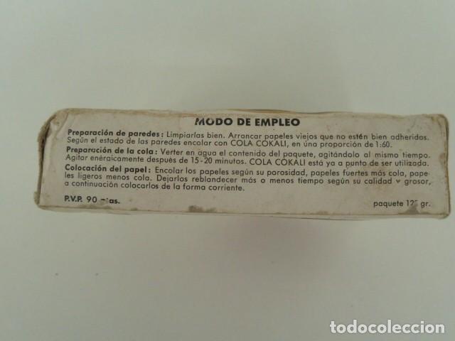 Antigüedades: PAQUETE DE COLA CELULOSICA PARA PAPELES PINTADOS AÑOS 70 - Foto 5 - 87677664