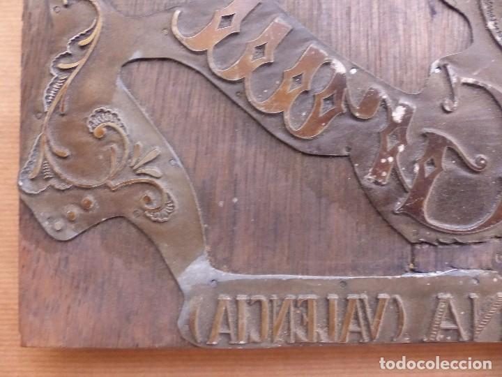 Antigüedades: PLANCHA O MOLDE IMPRENTA PUBLICIDAD ERNESTO GRAU TOMATES SELECCIONADOS, SIMAT DE VALLDIGNA, VALENCIA - Foto 6 - 87794532