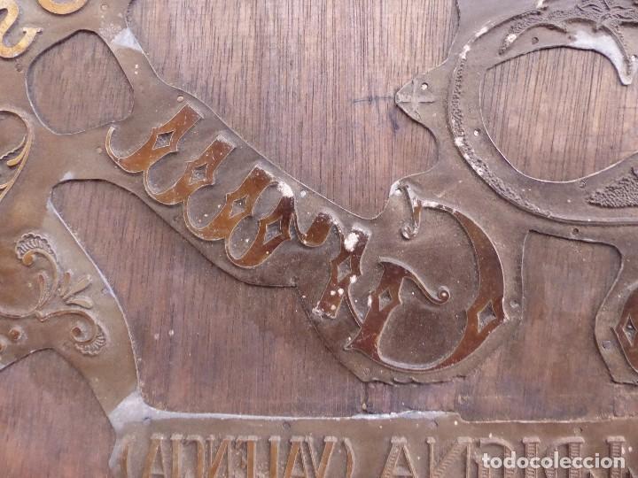 Antigüedades: PLANCHA O MOLDE IMPRENTA PUBLICIDAD ERNESTO GRAU TOMATES SELECCIONADOS, SIMAT DE VALLDIGNA, VALENCIA - Foto 8 - 87794532