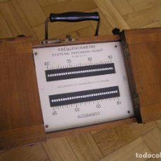 Antigüedades: ANTIGUO FRECUENCIMETRO FRÉCUENCEMÈTRE SYSTÈME HARTMANN KEMPF PRINCIPIOS DEL SIGLO PASADO. Lote 88105980