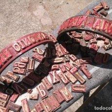 Antigüedades: TROQUELES DE ESTAMPACION ESTAMPAR LOGO CAJAS DE MADERA -2 JUEGOS COMPLETOS -FLIX--TARRAGONA-REF-PEÑ1. Lote 88755264