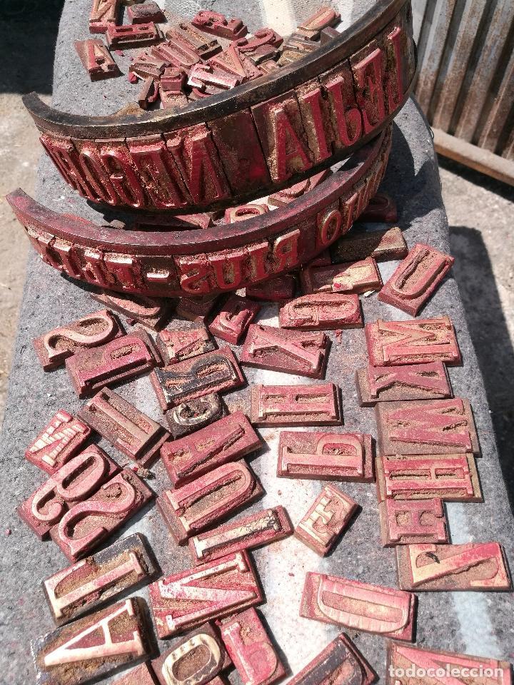 Antigüedades: TROQUELES DE ESTAMPACION ESTAMPAR LOGO CAJAS DE MADERA -2 JUEGOS COMPLETOS -FLIX--TARRAGONA-REF-PEÑ1 - Foto 6 - 88755264