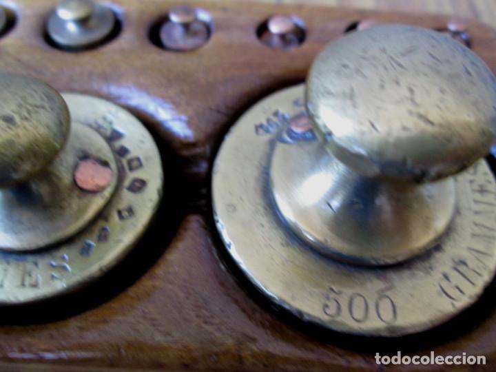 Antigüedades: JUEGO DE PESAS completo -- Esta en perfecto estado - Foto 6 - 88766660