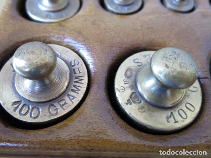 Antigüedades: JUEGO DE PESAS completo -- Esta en perfecto estado - Foto 7 - 88766660