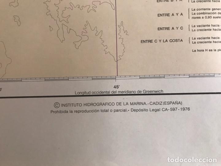 Antigüedades: Carta Naútica Estrecho de Gibraltar Número 105 INT 3150 - Foto 4 - 88860734