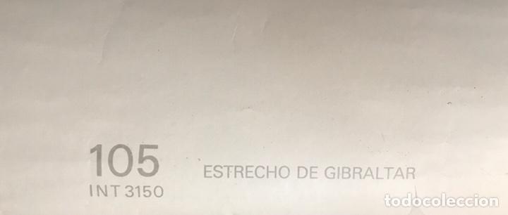 Antigüedades: Carta Naútica Estrecho de Gibraltar Número 105 INT 3150 - Foto 6 - 88860734