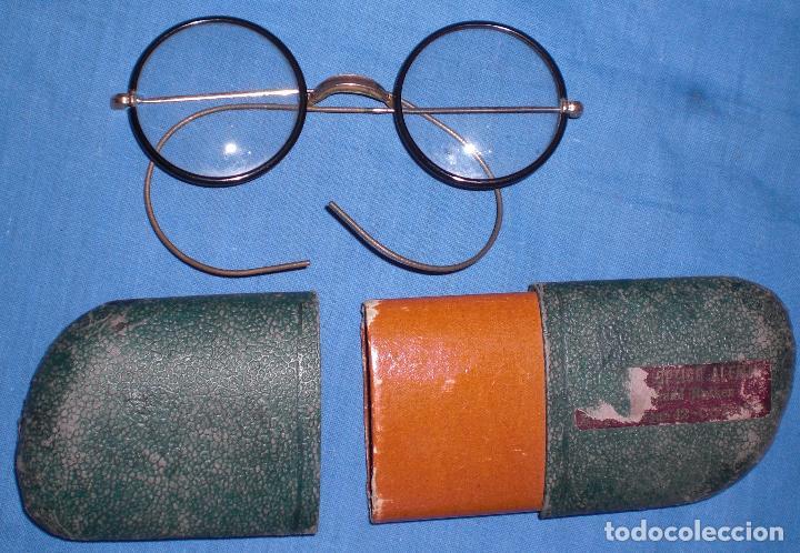 ANTIGUAS Y PRECIOSAS GAFAS E´POCA GUERRA CIVIL (Antigüedades - Técnicas - Instrumentos Ópticos - Gafas Antiguas)