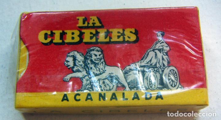 CUCHILLAS DE AFEITAR. LA CIBELES. PAQUETE PRECINTADO DE 10 CUCHILLAS. (Antigüedades - Técnicas - Barbería - Hojas de Afeitar Antiguas)