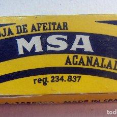 Antigüedades: CUCHILLAS DE AFEITAR. MSA PAQUETE DE 10 CUCHILLAS.. Lote 88902916
