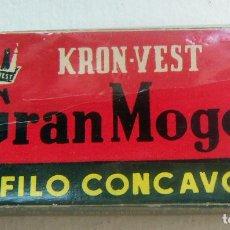 Antigüedades: CUCHILLAS DE AFEITAR. GRAN MOGOL PAQUETE PRECINTADO DE 5 CUCHILLAS.. Lote 88903292
