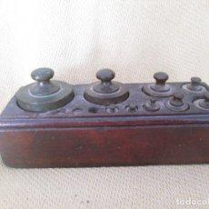 Antigüedades: JUEGO ANTIGUO DE PESAS PARA BALANZA. Lote 89090300