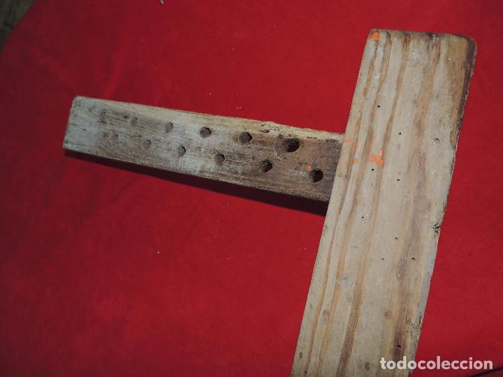 Antigüedades: TORNILLO ANTIGUO DE BANCO CARPINTERO FUNCIONAN BIEN. - Foto 4 - 89113152