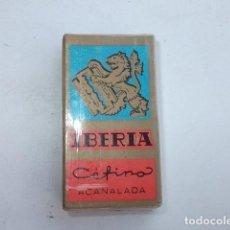 Antigüedades: PAQUETE SIN ABRIR DE CUCHILLAS DE AFEITAR IBERIA,BARATAS. Lote 89311472