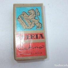 Antigüedades: PAQUETE SIN ABRIR DE CUCHILLAS DE AFEITAR IBERIA,BARATAS. Lote 89311516