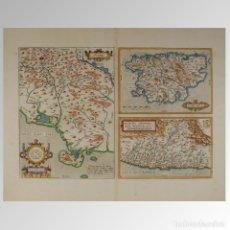 Antigüedades: SENENSIS DITIONIS ACCURATA DESCRIP / CORSICA / MARCHA ANCONAE OLIM PICENUM. 1572. Lote 54239466