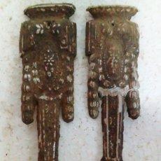 Antigüedades: 2 ADORNOS EN CHAPA METALICA. Lote 89423864
