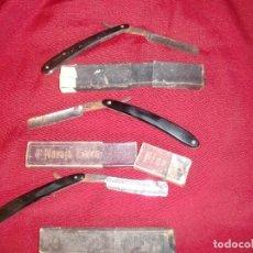 Antigüedades: LOTE DE 3 NAVAJAS DE AFEITAR. DOS SON GUILLERMO HOPPE Y LA OTRA ES KIRSPEL. Lote 91263235