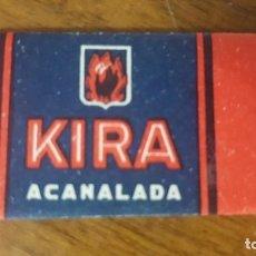 Antigüedades: CUCHILLA DE AFEITAR KIRA ACANALADA . Lote 89639692