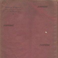 Antigüedades: ANTIGUO CATALOGO PUBLICIDAD, ARTHUR PFEIFFER, FABRICACIÓN EQUIPOS DE FÍSICA, WETZLAR, EN ALEMAN. Lote 89851072