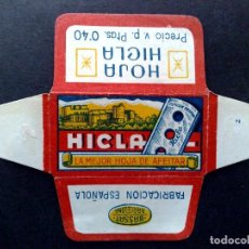 Antigüedades: HOJA DE AFEITAR ANTIGUA-HICLA PTAS.0'40-VINTAGE. Lote 89907892