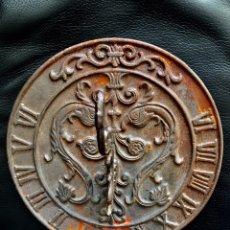 Antigüedades: ANTIGUO RELOJ SOL EN HIERRO JARDIN RELOJ SOLAR JARDINERIA SUNDIAL CLOCK. Lote 90233199