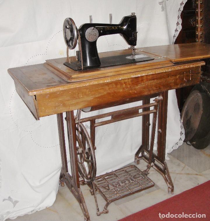 antigua maquina de coser sigma. con pie de forj - Comprar