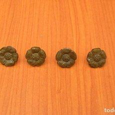 Antigüedades: LOTE DE 4 CLAVOS TACHUELAS.2 CM DE DIAMETRO.. Lote 90683145