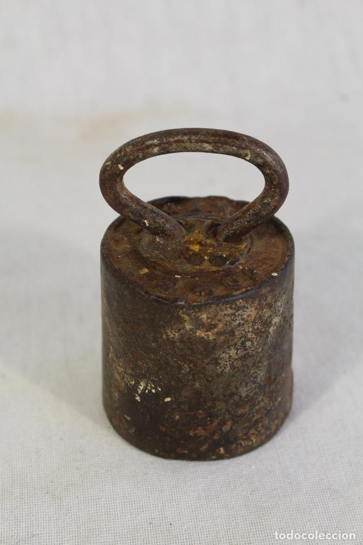 Antigüedades: pesa ponderal en hierro de 1kg. - Foto 5 - 90761685