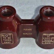 Antigüedades: ANTIGUOS BINOCULARES DE BAQUELITA AÑOS 30/40 MADE IN ENGLAND. Lote 90764540