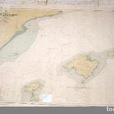 Antigüedades: MAPA - CARTA NAUTICA Nº 48 DE CABO DE LA NAO A BARCELONA CON LAS ISLAS BALEARES-SIN DOBLAR.. Lote 90771970