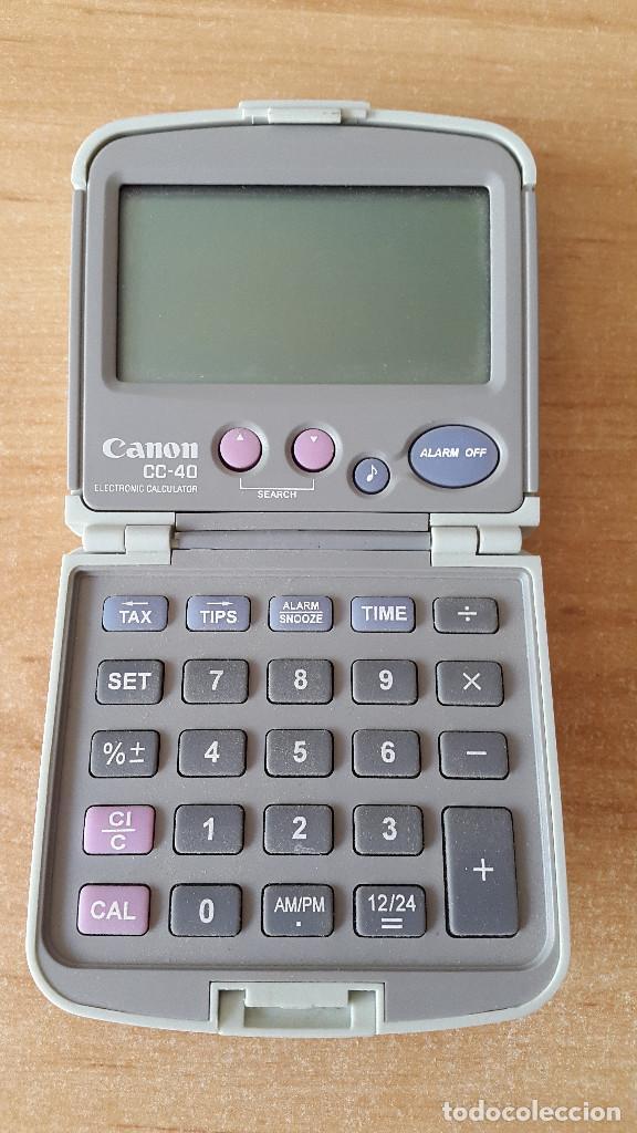 Antigüedades: CALCULADORA CANON - ELECTRONIC CALCULATOR - ALARM CLOCK - VER FOTOS - Foto 2 - 90798560