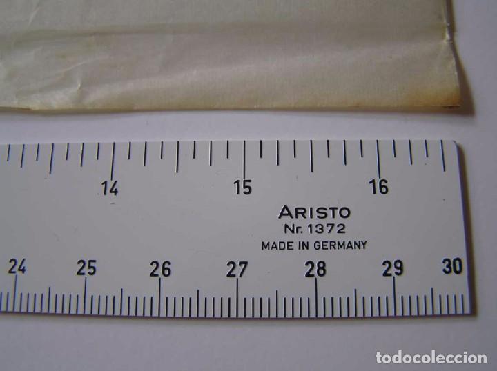 Antigüedades: REGLA ARISTO 1372 TIPOMETRO - TYPOMETER DEL FABRICANTE DE REGLA DE CALCULO RECHENSCHIEBER SLIDE RULE - Foto 3 - 90975210