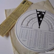 Antigüedades: ARISTO 60168 REGLA DE CALCULO CIRCULAR - CALCULADORA SLIDE RULE RECHENSCHIEBER. Lote 91114970