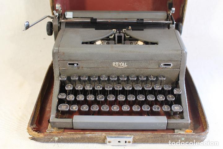 Antigüedades: maquina de escribir antigua royal portatil - Foto 3 - 91326460
