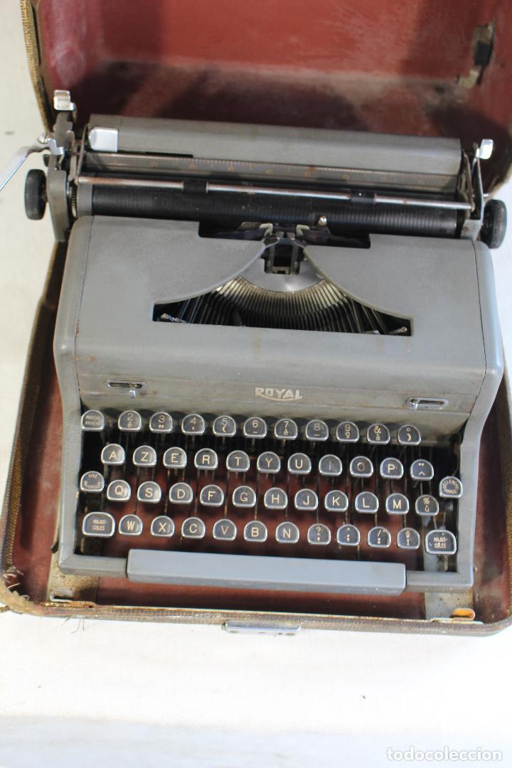 Antigüedades: maquina de escribir antigua royal portatil - Foto 4 - 91326460