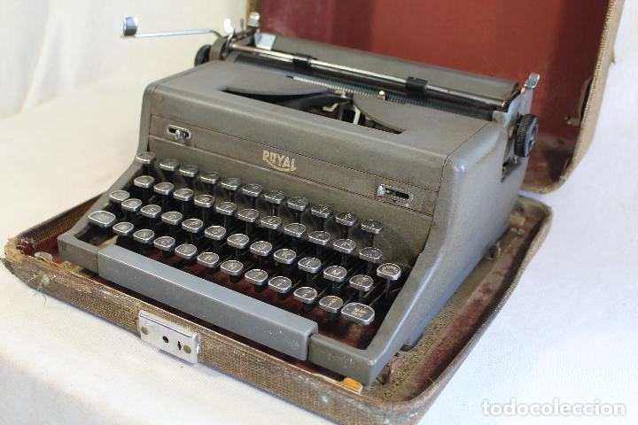 Antigüedades: maquina de escribir antigua royal portatil - Foto 5 - 91326460