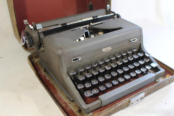 Antigüedades: maquina de escribir antigua royal portatil - Foto 6 - 91326460