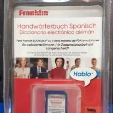 Antigüedades: TRADUCTOR FRANKLIN SD, LDS 500849 ESPAÑOL {{ }} ALEMAN ¡ NUEVO ! DICCIONARIO. Lote 269294563
