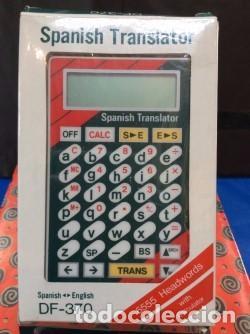 TRADUCTOR SEIKO DF 370 ESPAÑOL {{ }} INGLES, AÑOS 80 ¡ NUEVO ! DICCIONARIO (Antigüedades - Técnicas - Aparatos de Cálculo - Calculadoras Antiguas)