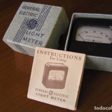 Antigüedades: LIGHT METER GENERAL ELECTRIC FOOT CANDLES MEDIDOR DE LUZ 1935 MADE IN U.S.A.. Lote 91541715